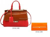 Designer handbag ladies , Plain100 leather briefcase 2015 new handbags CC43-108
