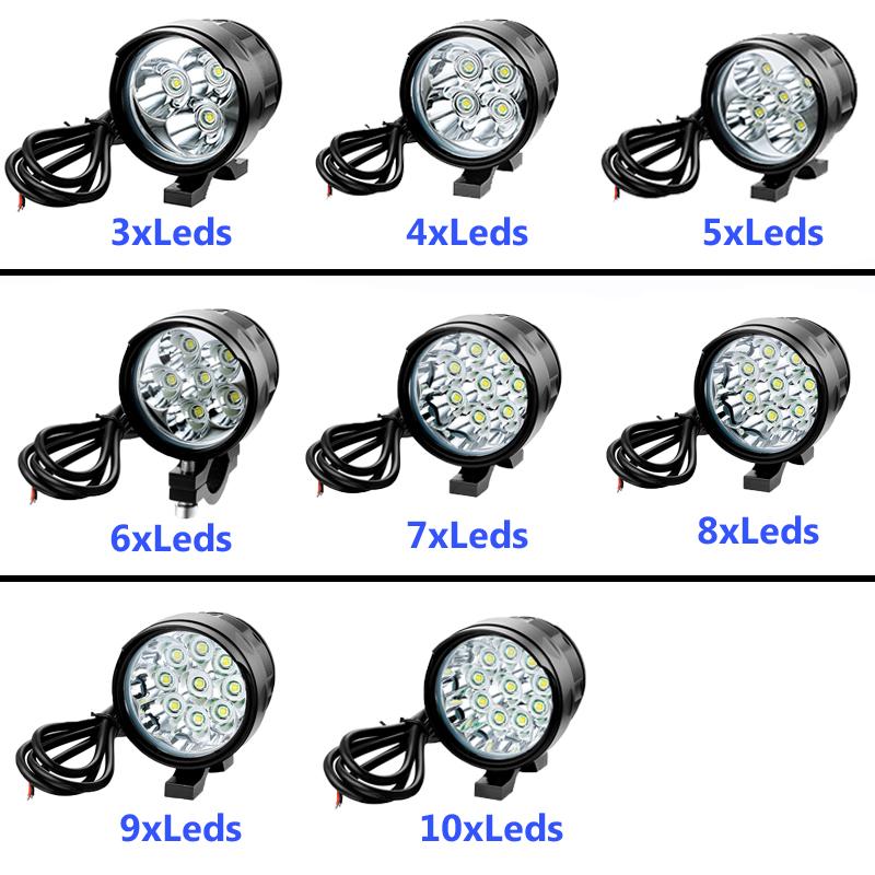 JEXREE 12V - 80V High Voltage Super Bright 7pcs Leds Light for Motorcycle