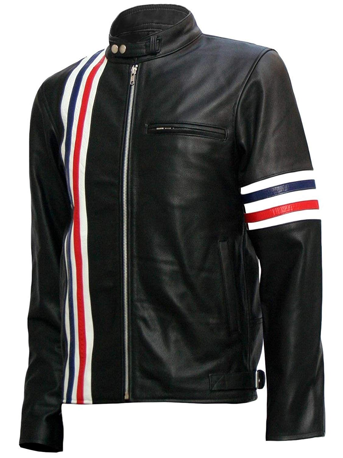 Xport Designs Real Leather Size Large Captain America Biker Black Easy Rider Jacket