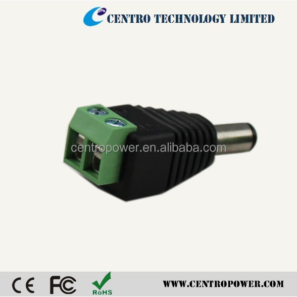 2.1 x 5.5mm DC Power Male Plug Jack Adapter Connector Socket for CCTV