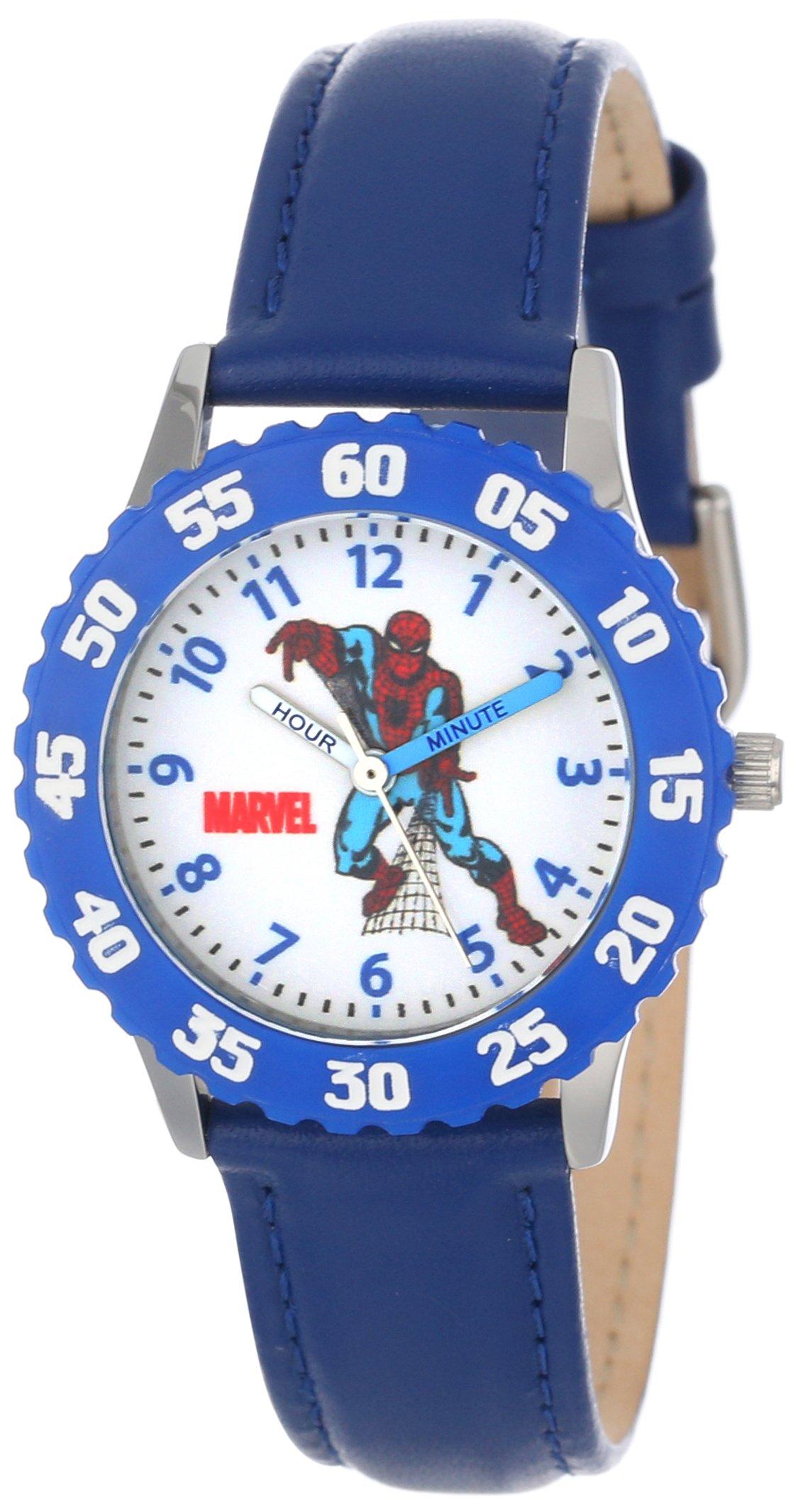 Marvel Boys' Spider-Man Blue Time Teacher Watch