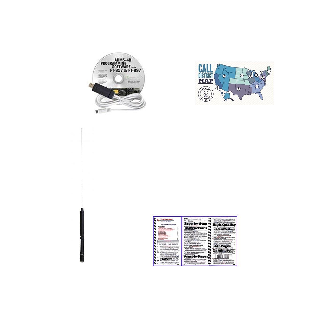 Yaesu FNB-83 Battery and Ham Guides Pocket Reference Card Bundle! Comet SMA-24 HT Antenna Yaesu Speaker Microphone - Programming Software//Cable Yaesu Car Charger Nifty Guide Yaesu FT-270R Accessory Pack Bundle Yaesu Desktop Charger