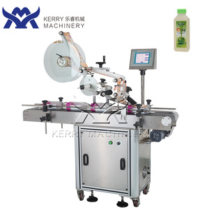 professional flat top self-adhesive sticker labeling machine for plastic bottle plastic can and bag