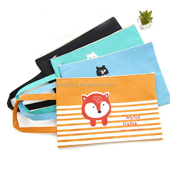 Big Capacity A4 Document bag cute oxford file folder office stationery storage bag for student with handle