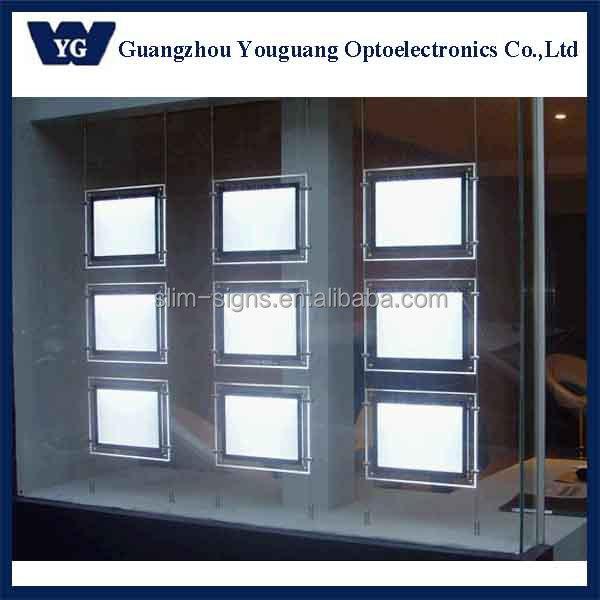 A4 Real Estate Window Displays Acrylic Display Box Hanging