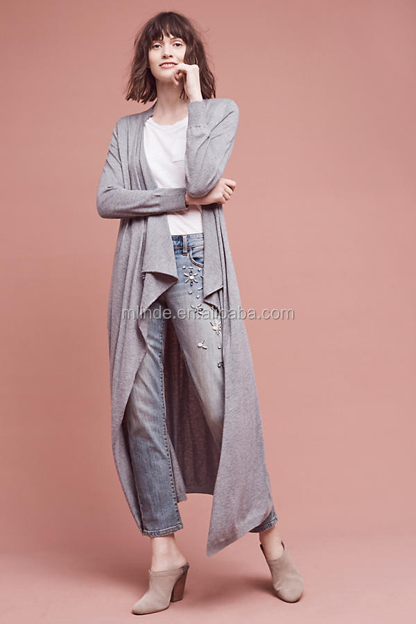 Hot New Fashion Design Women Open Front Sweater Long Cardigan Sweater  Wholesale Custom Clothing China Agent dc0ff0e3f