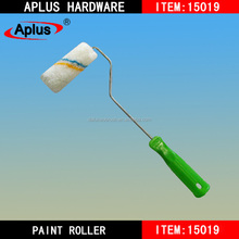 mini cover paint roller brush with soft plastic handle