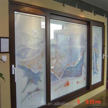 High Praise Best Price Aluminum 3 Panel Sliding Glass Door ,3 Track Sliding  Door