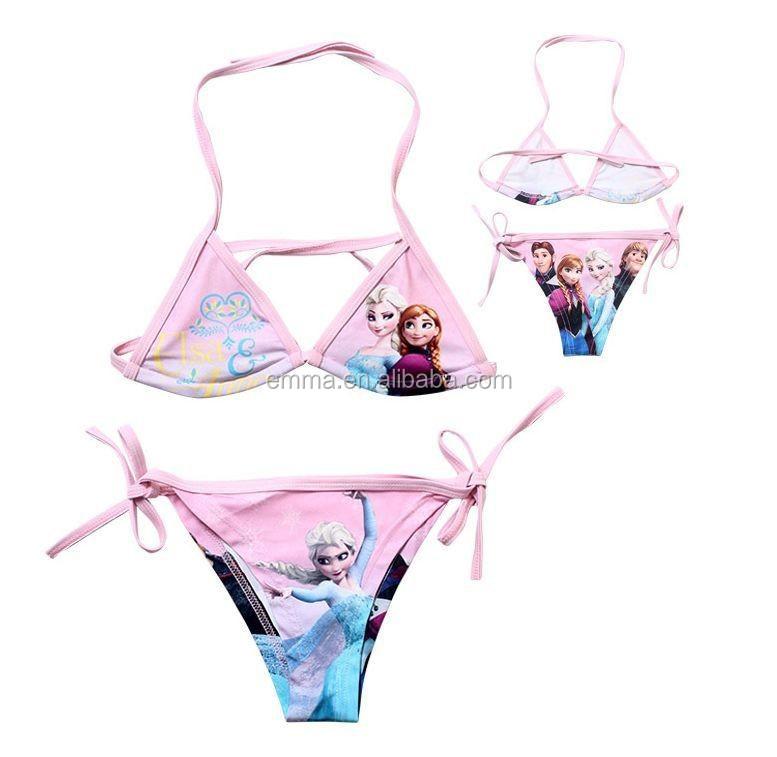 1883d39346 FROZEN QUEEN ELSA ANNA GIRLS SWIMMING COSTUME SWIM SUIT Bikini BC433
