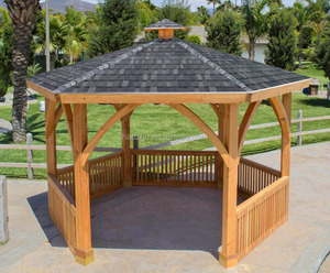Luxury garden spacious wood gazebo factory