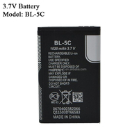 Grade AAA original quality 3.7V 1020mAh BL-5C battery for radio speaker card speaker Nokia phone battery