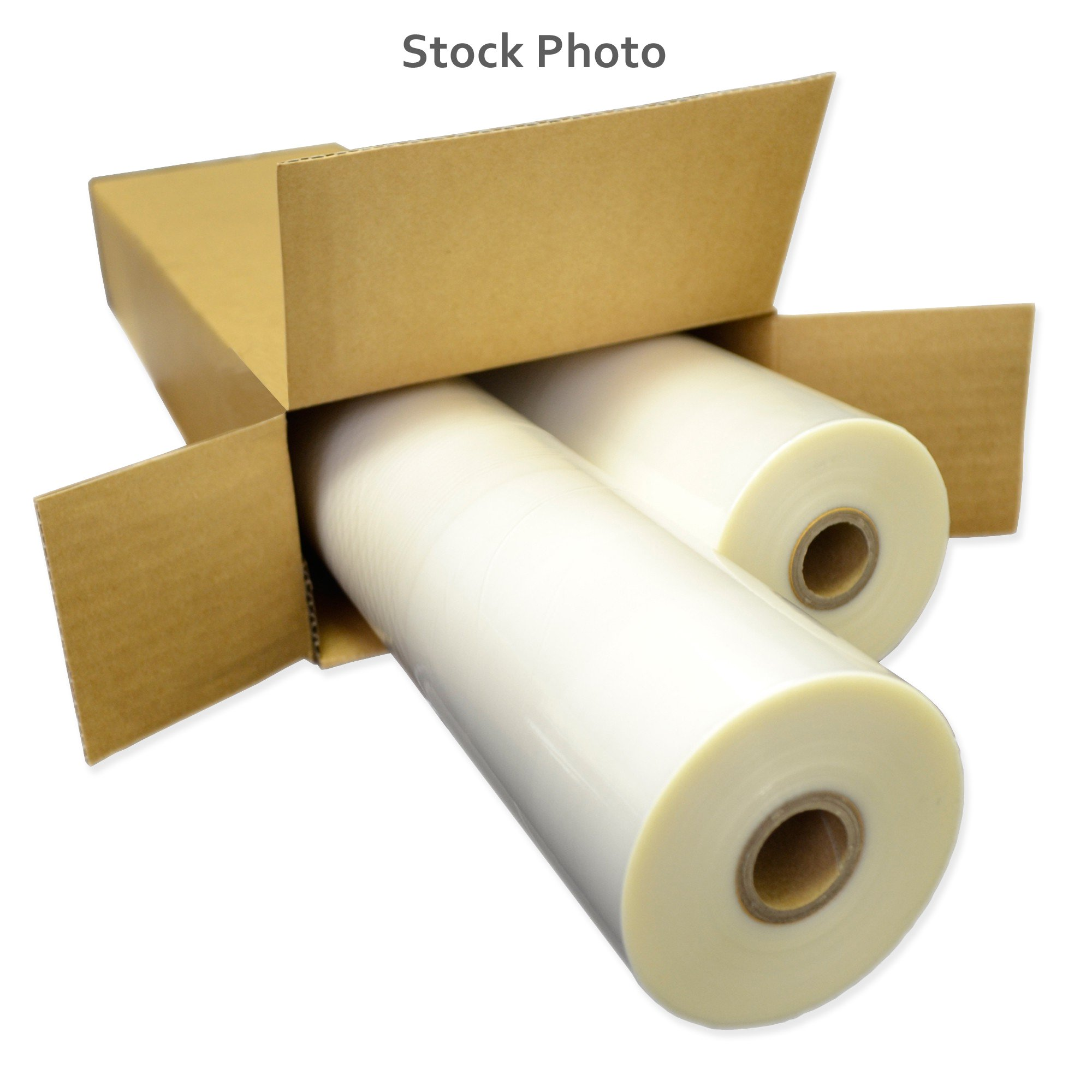 """25"""" Clear 5 Mil Thermal Roll Lamination Film (Quantity 2) w/ 1"""" Core from ABC Office"""