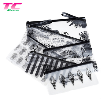Morecredit Wholesale Transparent PVC Cosmetic Bag Waterproof Clear PVC Garment Zipper Bag For Wet Swimwear Bikini