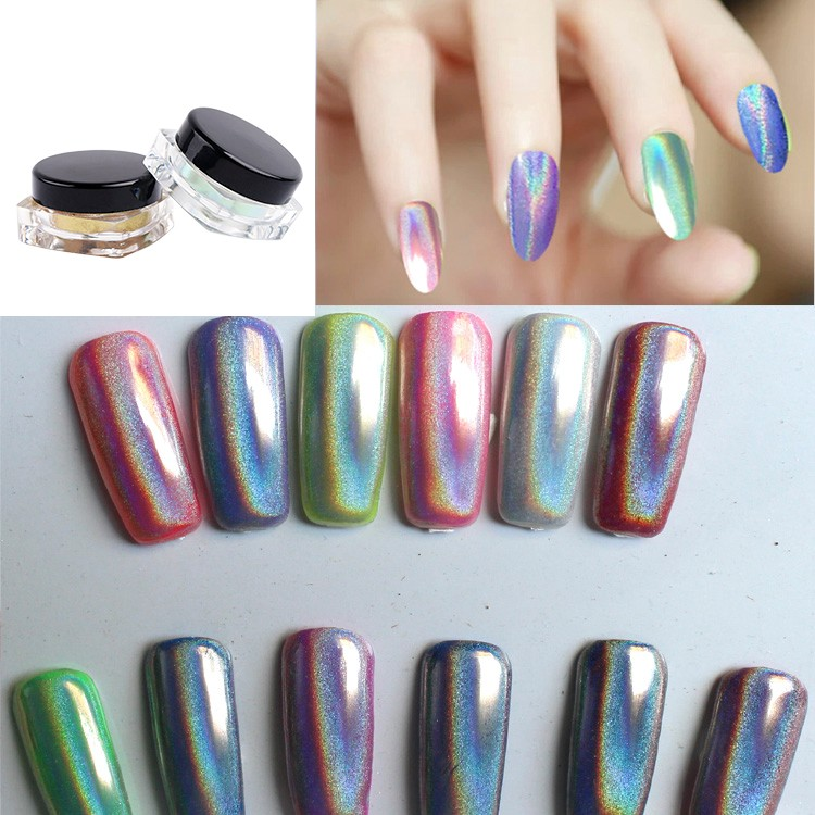 2017 Newest Magic Metallic Chrome Mirror Pigment Nail Powder For Paint
