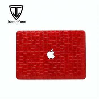 Hot products for Macbook case high quality embossed crocodile leather laptop case