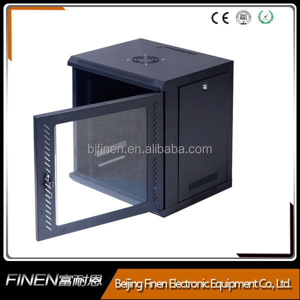 Glass door wall cabinet+19 inch+telecommunications WM-E02 single section 19 server rack