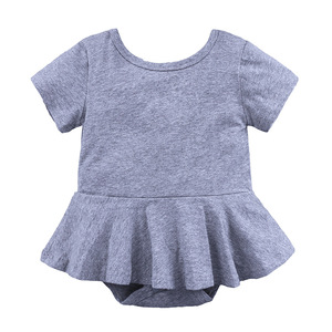 baby girl cotton short sleeves romper toddlers pajamas baby clothes onesie manufacturer