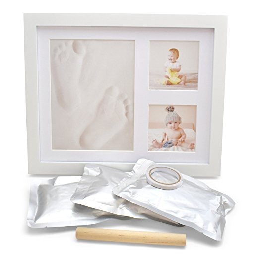 Wholesale best-selling newborn baby footprint photo frame clay as baby keepsake <strong>gifts</strong>