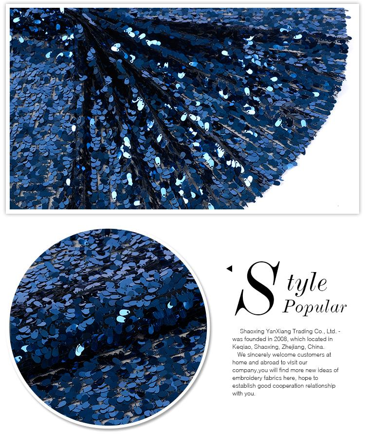 Wholesale different design elegant blue mesh poly bridal fabric tulle