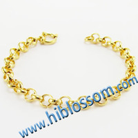 mens new gold plated stainless steel rolo Chain bracelet design,stainless steel bracelet