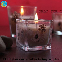 Glass Container Candle Holder