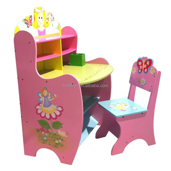 Kids Study Desku0026 Chair Children Table Cubby House Wooden Table