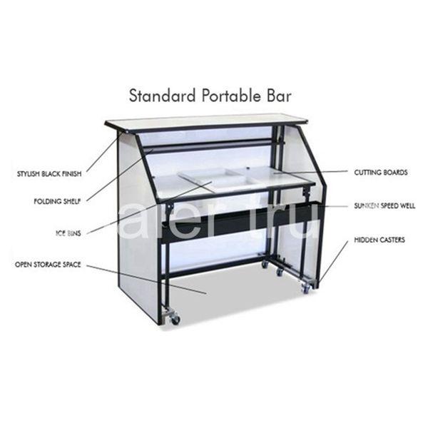 Movable Bar Counter Folding Portable