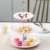 3 Tier Serving Tray Stand  Round Cupcake Dessert Party Platter   Three Tiered Food Holder