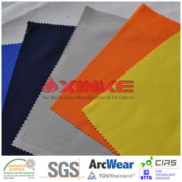 UPF 50+ AS/NZS 4399 Fire resistant sun protective fabric for outdoor safety clothing