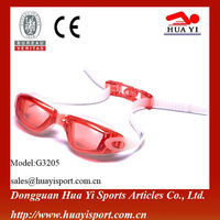 Most Popular new arrived adult silicone strap myopia swimming goggles