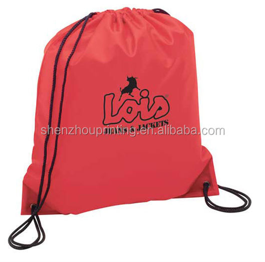 New design great price promotional custom size econo non-woven string backpack drawstring bag