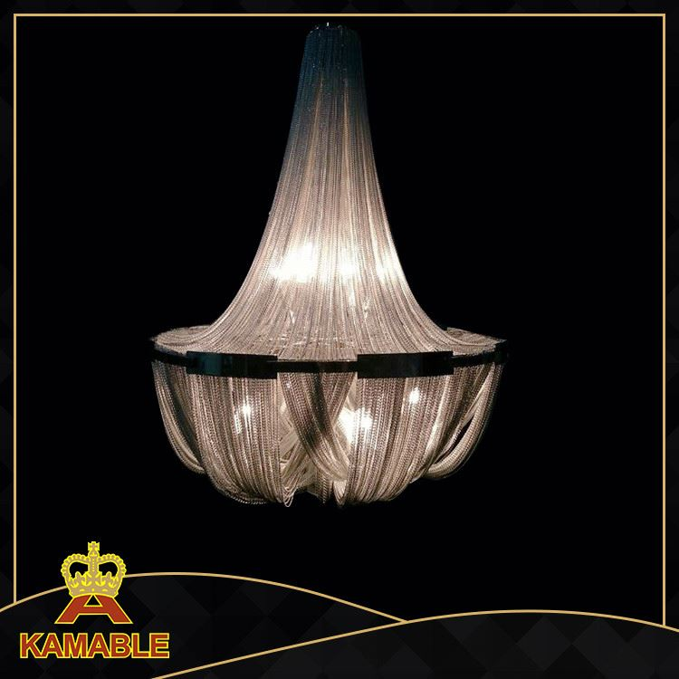 China supplier resturant suspension decorative hanging chain light