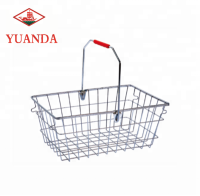 Metal wire carry shopping basket