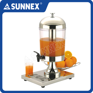 SUNNEX Hot Sale Stainless Steel 8ltr Classic Beverage Cold Drink Buffet Juice Dispenser