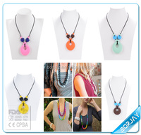 Colorful silicone bead chunky necklace wholesale in China