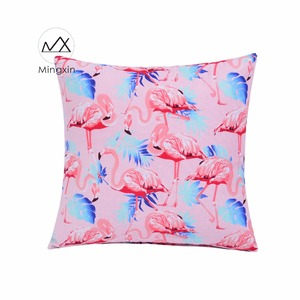MP17-MBXHLN Colorful flamingos pattern wholesale fancy sofa cushion covers decorative