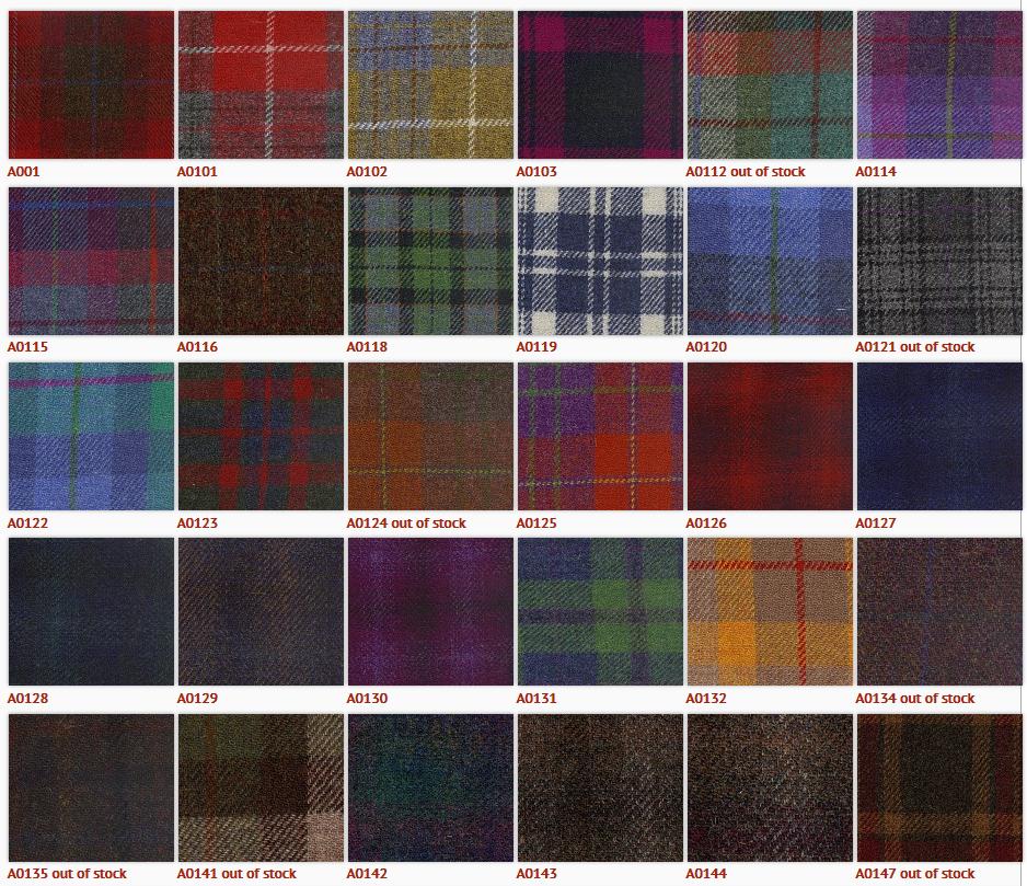 Green Tartan Harris Tweed 100 Virgin Wool Fabric For
