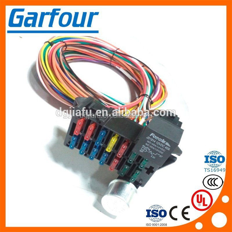 HTB1A2G9IpXXXXXEXFXXq6xXFXXXg universal 14 circuit wiring harness fuse holder high quality street rod universal 14 fuse 12-14 circuit wire harness at bayanpartner.co