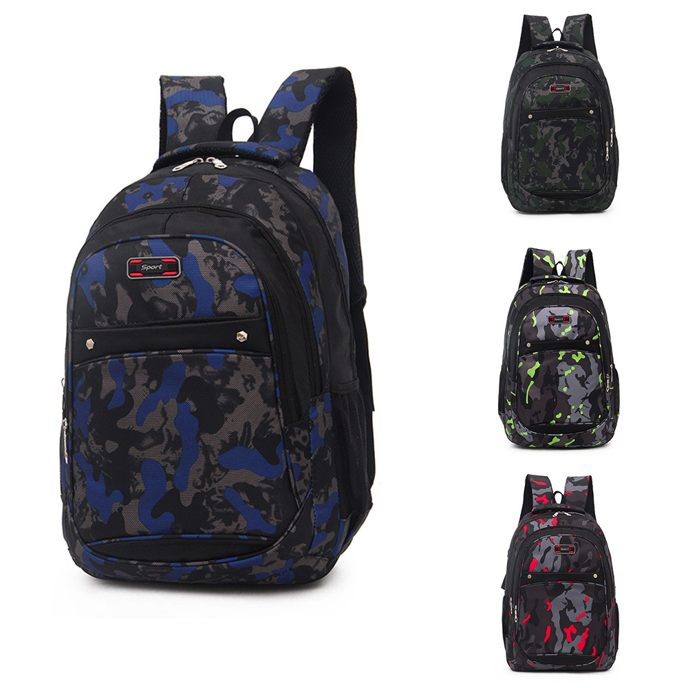 84142508febe 2018 New Fashion Backpack Teenage Girls Boys School Backpack Camouflage  Printing Students Bags College Bag Mochilas Mujer
