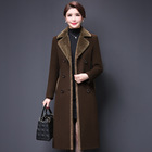 YQ48 free shipping Winter warm women long wool coat Ladies Trench Coat Wool Women Long Wool Women's Coat