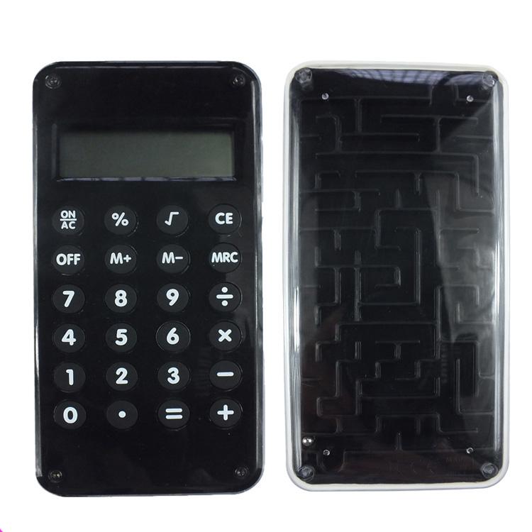 Taschenrechner mit Labyrinthspiel neu Solar