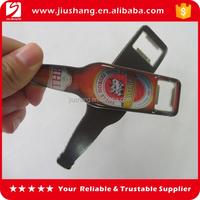 Customized beer bottle shaped metal bottle opener with magnet back