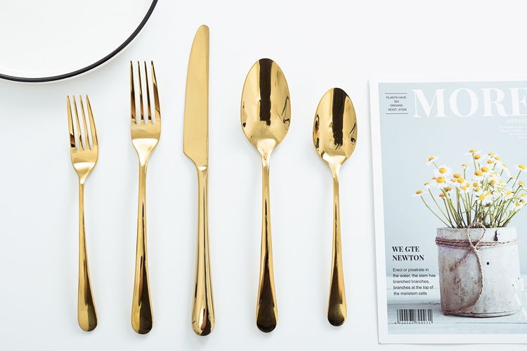 Christmas Gift 24k Gold Plated Stainless Steel 18/0 Luxury Flatware Cutlery Wholesale