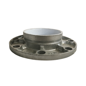 Interior plastic coated galvanized surface pipe flange