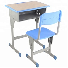 Plastic Seat Student Desk And Chair School Study Table And Chair Set Height Adjustable Cheap School Furniture Chair Desk Set