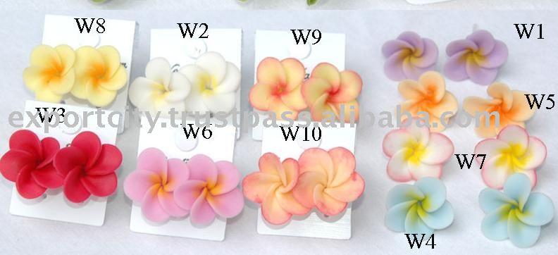 Plumeria Frangipani Hawaiian Flower Clay Earring Fashion Product On Alibaba