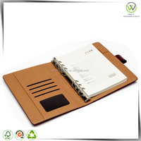 free samples loose leaf leather cover journal diary notebook