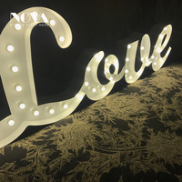 2018 Hot Sale High Quality Light Up Led Bulb Light Letters 3d New Design Love Letter Lights