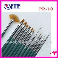 12pcs/set Sables Brush Nail Art Design Dotting Painting Pen Kit Nail Brush Set