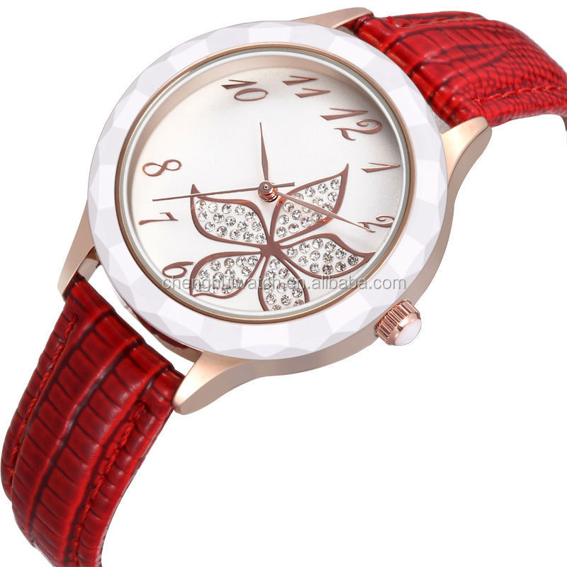 Silver Rose Gold Diamond Big Face Girl Watch For Young People And ...
